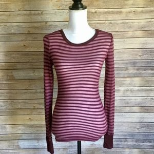 Free People Long Sleeve Striped Top S
